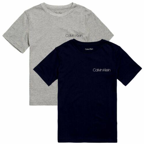 Grey Heather//Blue Shadow Boys 2 Pack CK Perforate Short Sleeve T-shirt