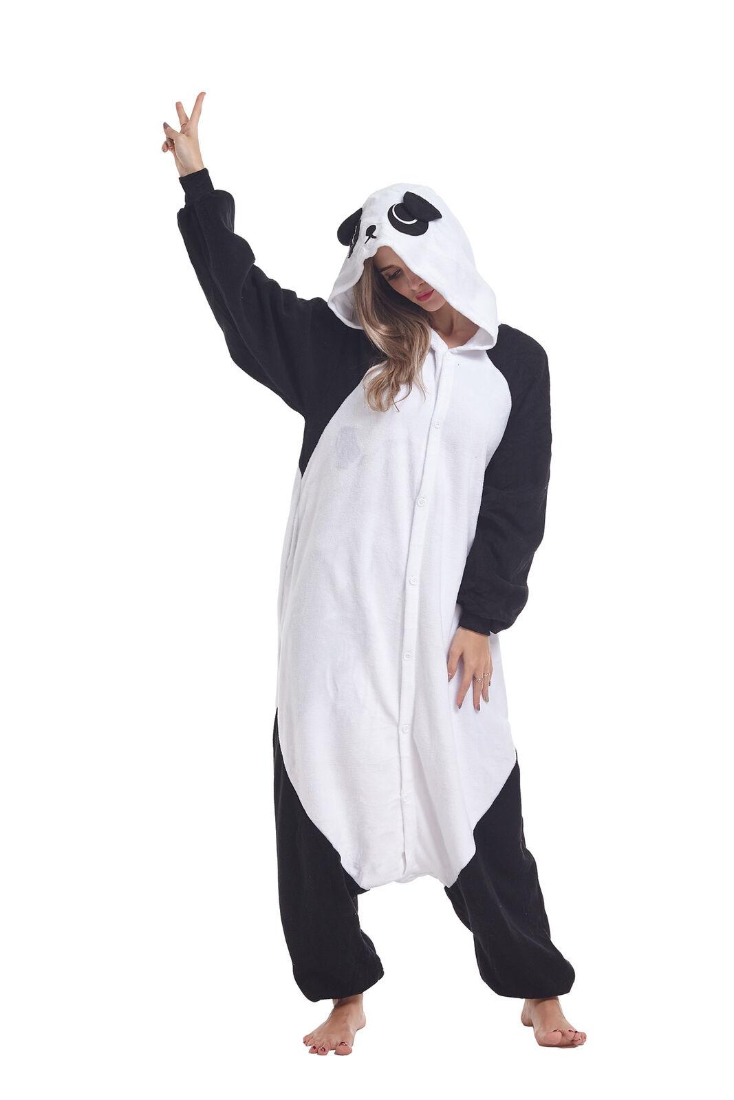 halloween panda adult animal cosplay pajama costume