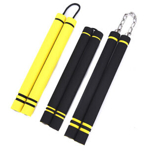 Training-Nunchakus-Sponge-Double-Truncheon-With-Stainless-Steel-Chain-Mart-OXBCD
