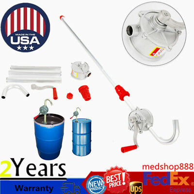 55 Gal Drum Rotary Manual Hand Barrel Heavy Duty Pump Diesel Fuel Oil Gas  Tool   eBay