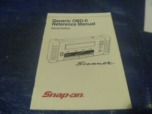 New snap on generic obd-ii scanner reference manual second edition.
