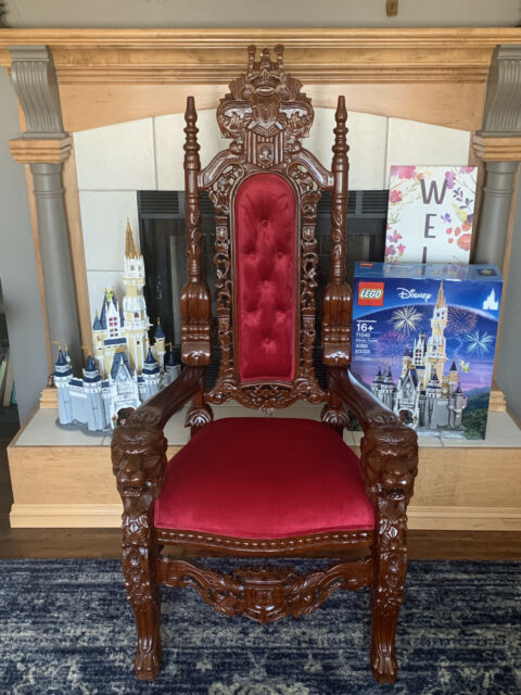 Design Toscano Af1038 Throne Chair Brown For Sale Online Ebay