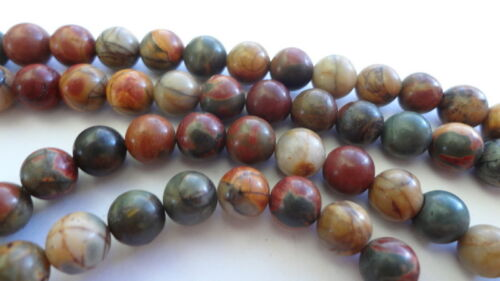 "6mm Natural Multi Color Smooth Round Picasso Jasper Beads Full 15/"" Strand"