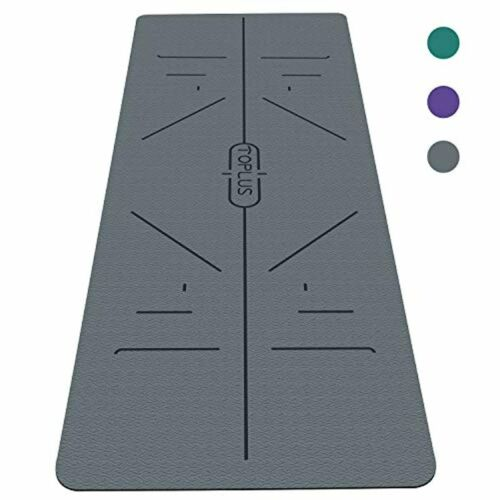 Yoga Mat Fitness Exercise Workout Thick Classic Pro Eco Friendly Non Slip Floor