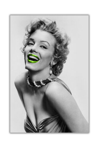 Black and White Marilyn Monroe With Coloured Lips Poster Wall Prints Movie Stars