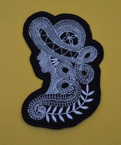 patch dame chapeau broder et thermocollant 11.5//7cm