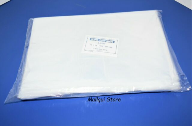 100 CLEAR 7 x 10 POLY BAGS PLASTIC LAY FLAT OPEN TOP PACKING ULINE BEST 2 MIL