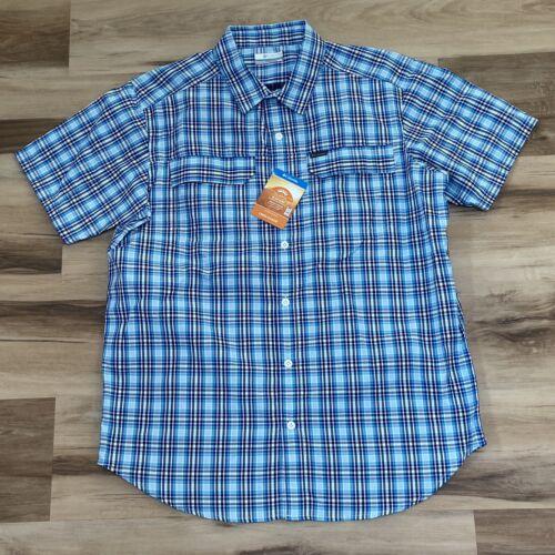 Columbia Men/'s Silver Ridge Plaid 2.0 omni-shade shirt à manches courtes taille M