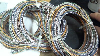 25ft Western Electric 22g solid cloth tinned