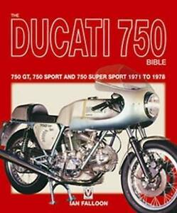 Ducati-750-Bible-bevel-round-case-Ian-Falloon-signed-SS-Sport-GT-new-soft-cover