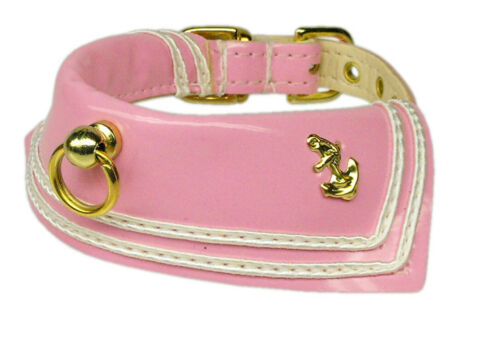 Dog Pet Collars Sailor Patent Leather size 10-18 /& 5 color Mirage pet