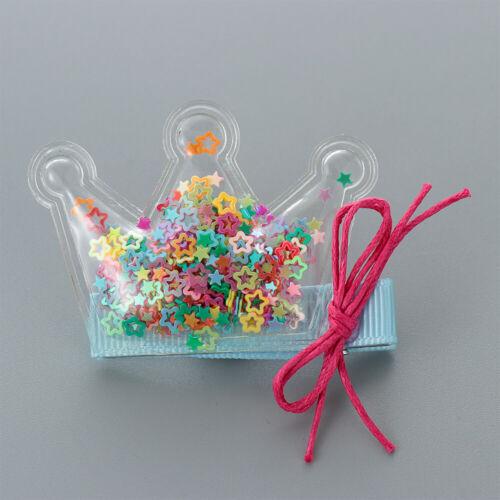 Accessories Glitter Baby Girls Hair Clips Children Hairpins Star//Crown//Heart