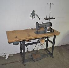 Vintage Singer 107g1 Zig Zag Heavy Duty Industrial Sewing Machine Amp Table Setup