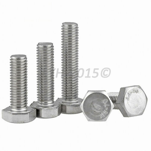 M8 M10 M12 Fully Threaded Hexagon Head Set Screws A4 316 Stainless Steel Bolts