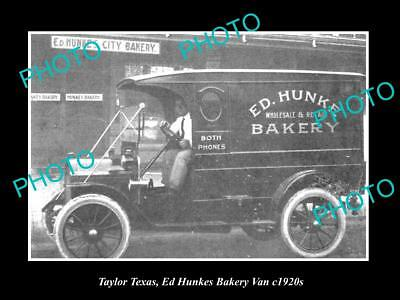 Collectibles Industrious Old Large Historic Photo Of Taylor Texas Other Historical Memorabilia The Ed Hunkes Bakery Van C1920s