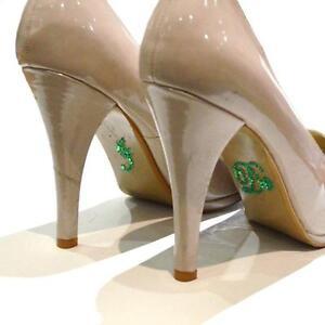 Estoy Verde Esmeralda Cristal Diamonte Boda Zapato Decoración pegatina