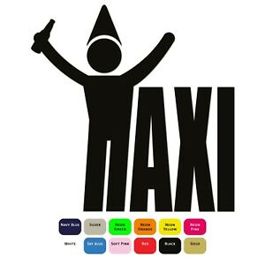 Taxi-Drunk-Iron-On-T-Shirt-Clothes-Heat-Transfer-Vinyl-HTV-Sticker-12-Colours