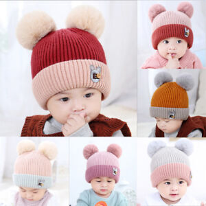 Newborn Toddler Caps Soft Baby Infant Soft Warm Crochet Knit Hat ... e51594e3f72