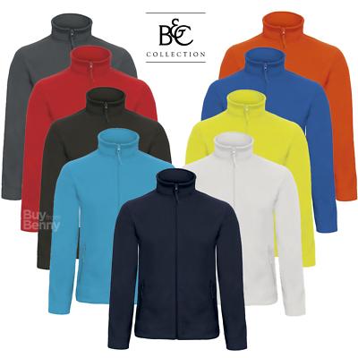 B&c Men's Fleece Jacket Zipped Collar Pockets Comfort Sports Warm Xs-4xl Offer Reich An Poetischer Und Bildlicher Pracht