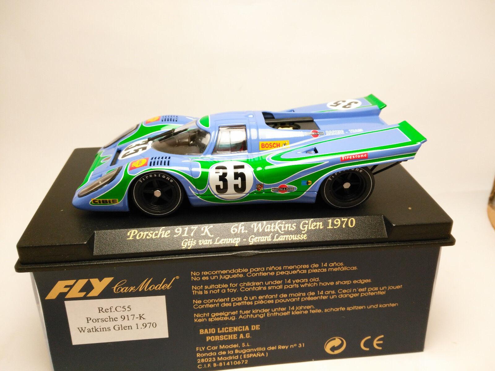 Slot Scalextric Scalextric Scalextric Fly Car Model Porsche 917K 6h Watkins Glen 1970 C55 1/32 b55af7