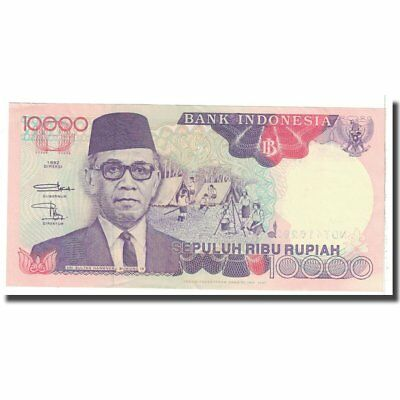 50% OFF 10,000 Rupiah Unc 1992 Indonesia Rapture #123017 60-62 Banknote Km:131a