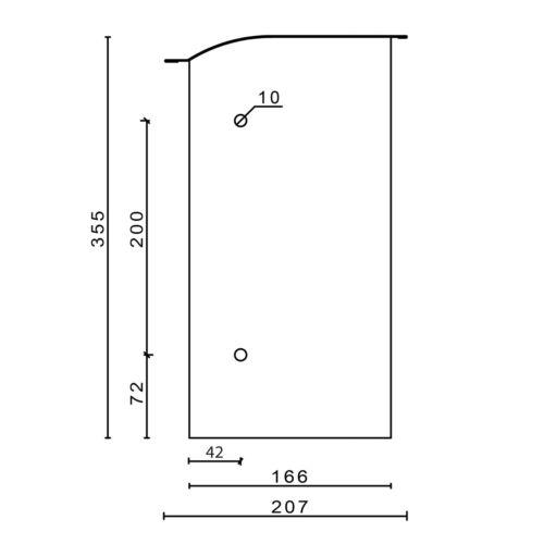 Art. 010.02 Zaunbriefkasten Boîte aux lettres en acier inoxydable Toplader anthracite RAL 7016