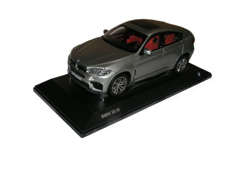 Original bmw x6 M (f86) maqueta de coche en miniatura escala 1 18 Donington grigio metalizado