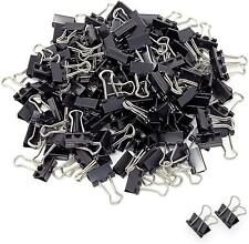 Mini Small Binder Clips 144 Pack Black Coating Paper Clamps Paper Clips New