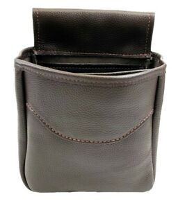 Genuine-LEATHER-SHOTGUN-SHELL-POUCH-Skeet-Sporting-Clays-Trap-USA-MADE-Midi-BRN