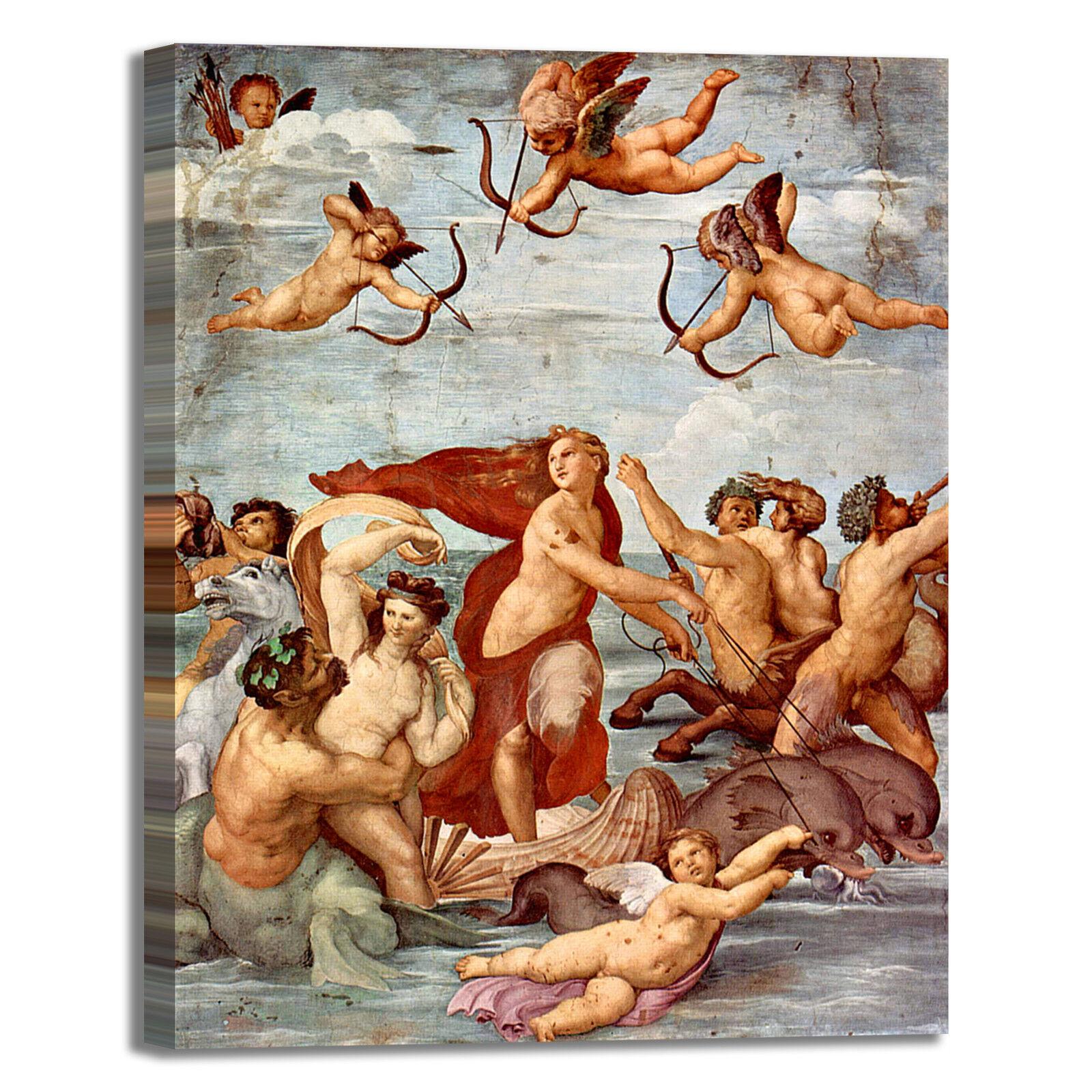 Raffaello trionfo di Galatea quadro stampa tela dipinto telaio arrossoo casa