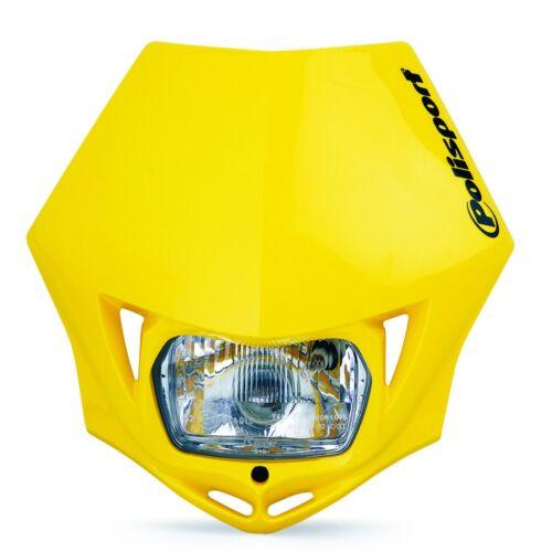 Polisport MMX Universal Road Legal Headlight Enduro Suzuki Yellow RM RMZ DR DRZ