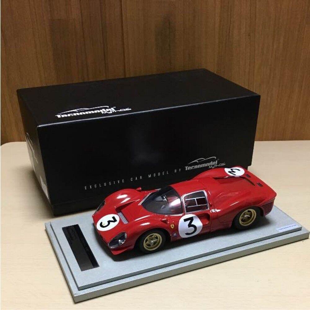 Excelente 100 limitada fuera de la impresión Ferrari 330 P4  Modelo de Coche Tecnomodel
