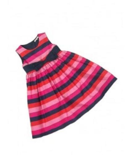 totalmente forrado edades 12-18 meses BNWOT Girl/'s ex Debenhams Vestido de rayas con arco