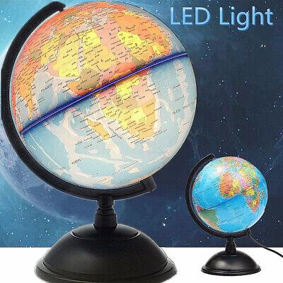 Illuminated World Earth Globe LED Light Up Geography Education Gifts Desk Lamp | eBay