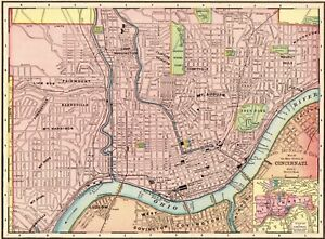 Details about 1900 Antique CINCINNATI Street Map City Map of Cincinnati on midwest map, cincinnati reds, st. louis map, los angeles map, downtown cincinnati, ohio river, masury map, kentucky map, ohio map, cincinnati bengals, cincinnati/northern kentucky international airport, minneapolis map, hamilton county neighborhood map, hamilton county, fairfield map, montgomery oh map, university of cincinnati, milwaukee map, columbus map, indianapolis map, cleveland map, jakarta map, maine map, chicago map, nyc map, new orleans map, pittsburgh map, john a. roebling suspension bridge,