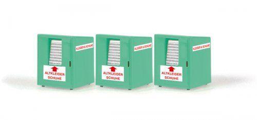 //// Spur H0 3 Stück Altkleidercontainer