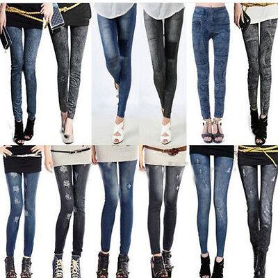 Fashion Womens Denim Jeans Sexy Skinny Leggings Jeggings Stretch Pants Trousers