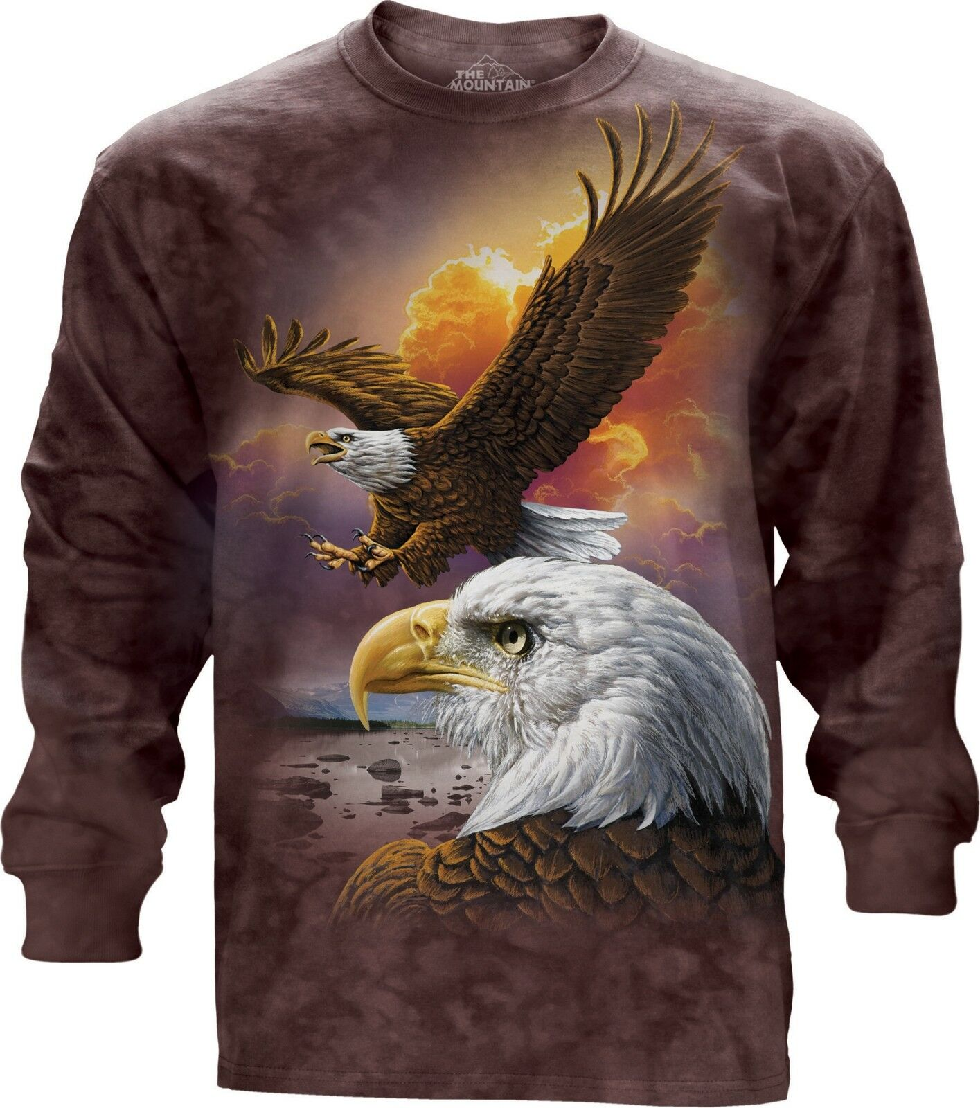 Eagle & Clouds Adult Unisex Langesleeve oben The Mountain