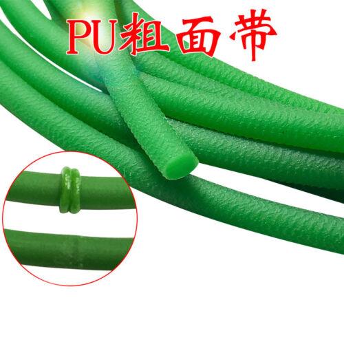 Green Polyurethane Conveyor Belts PU Round Drive Belt Meltable Cord Dia 2mm-15mm