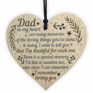 Details about Daddy Dad Gifts For Christmas Birthday Heart From Son  Daughter Baby Thank You