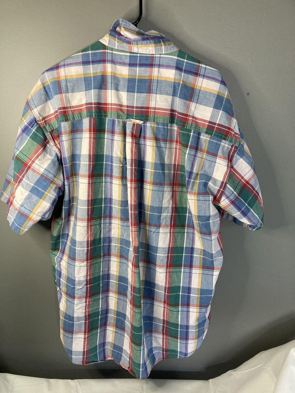 Vtg 80s 90s Chaps Ralph Lauren Mens XL Short Slee… - image 6