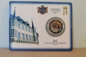 Coincard BU Poinçon 2 Euros Commémorative Luxembourg 2021 Duc