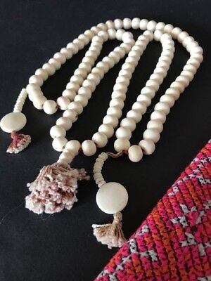 Style; In Radient Old Tibetan Yak Bone Beaded Necklace …beautiful Collection Accent Piece Fashionable