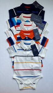 8d2d9bd2d Tommy hilfiger baby boys striped body suit baby grow short sleeves 6 ...