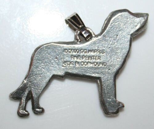 BLOODHOUND Dog Harris Fine Pewter Pendant USA Made