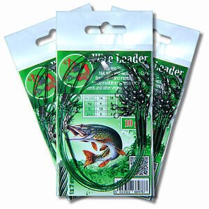 Wire Leader Traces R FACTOR Soft Lures Perch Pike Sea Coarse Fishing