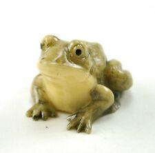 """Old Chinese/ Japanese Happy Lucky Frog Resin NETSUKE NEW 1.5"""""""