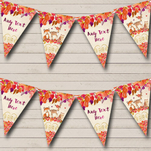 Autumn Fall Woodland Forest Animals Fox Childrens Party Banner