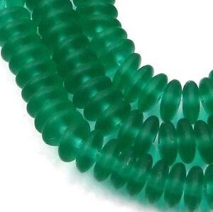Green Emerald 6x2mm 50 Czech Glass Rondelle Beads