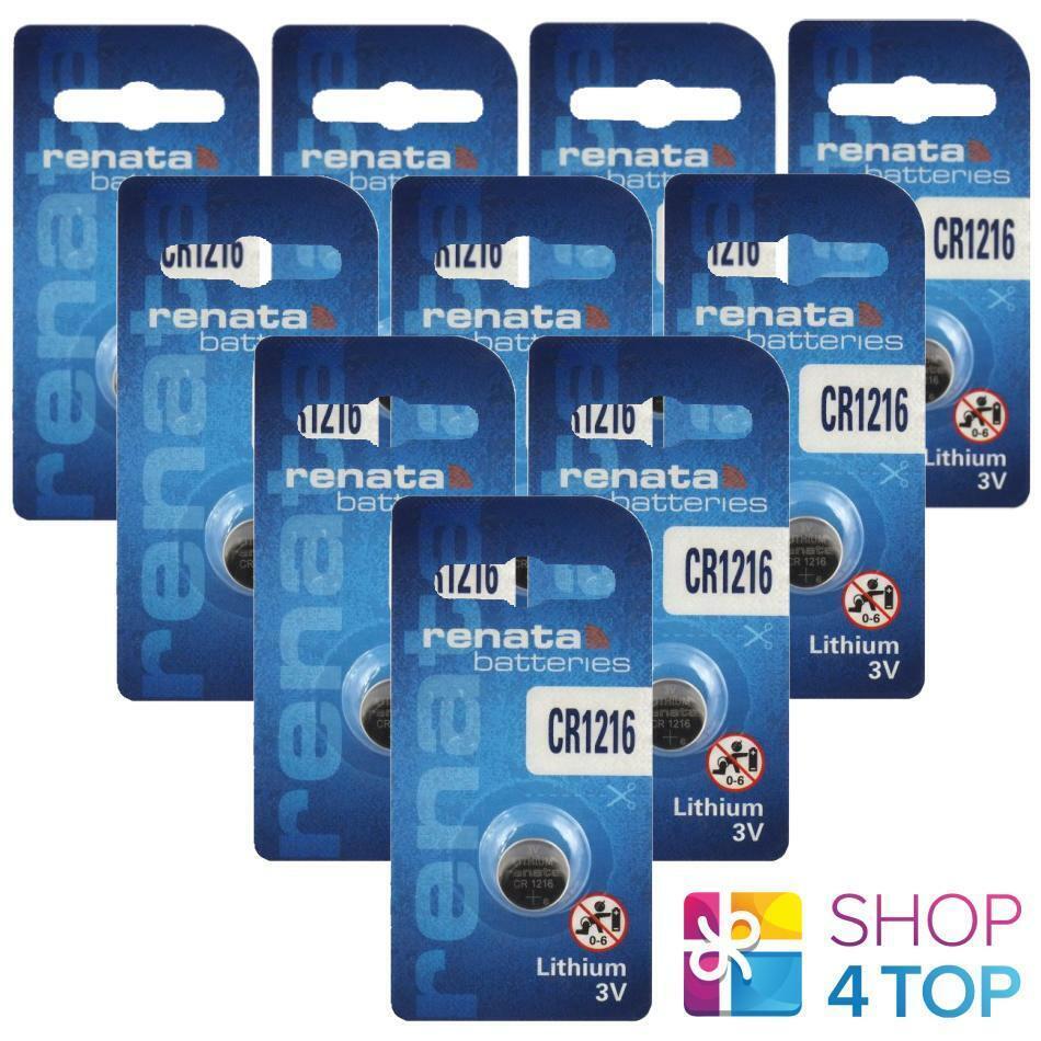 10 Renata cr1216 Lithium Batteries 3v Cell Coin Button Expire 2022 NEW